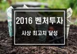 2016년 벤처투자 사상최고 수준 달성